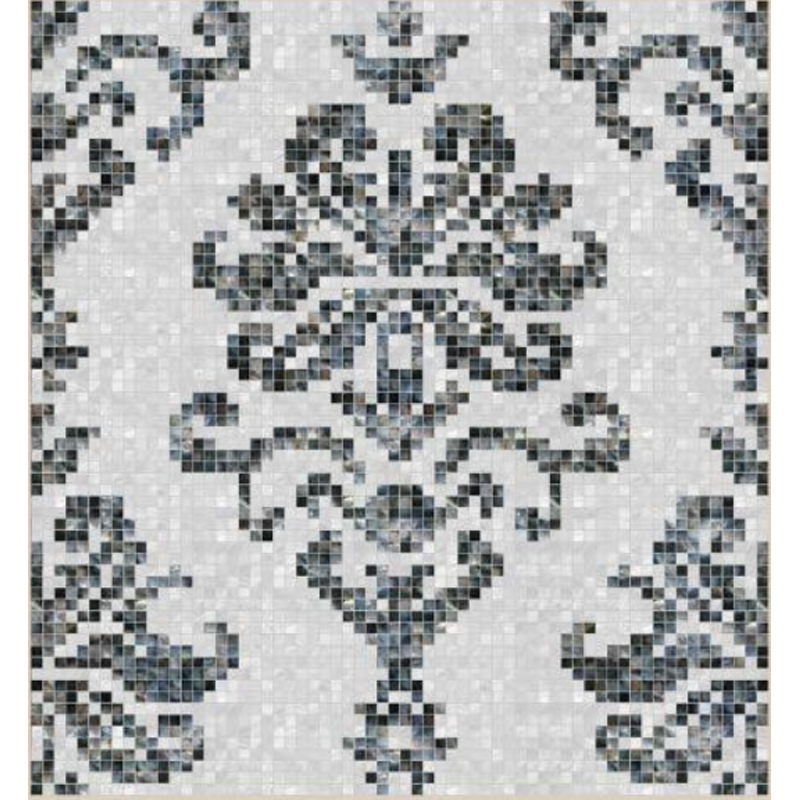 "Fresco 1 Floral Seashell Mosaic Tile Panel, 67.56 x 67.56"", 1 Section"
